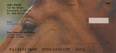 Horses Seeing Eye to Eye Personal Checks