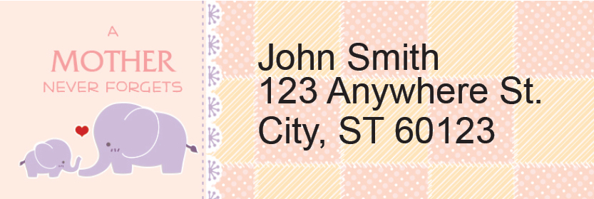 A Mother's Love Address Labels