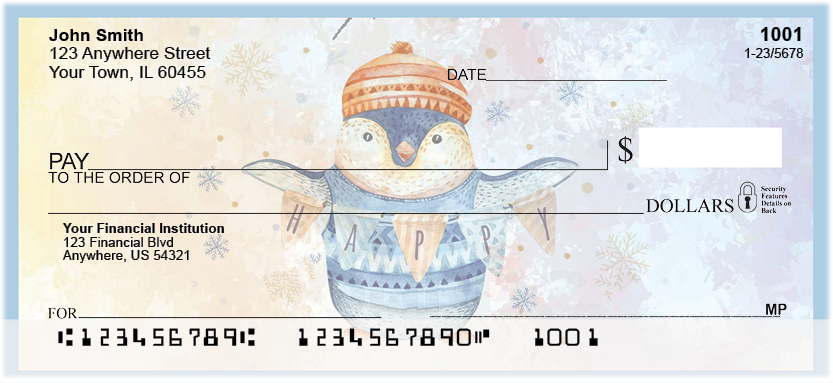 Winter Waddle Personal Checks
