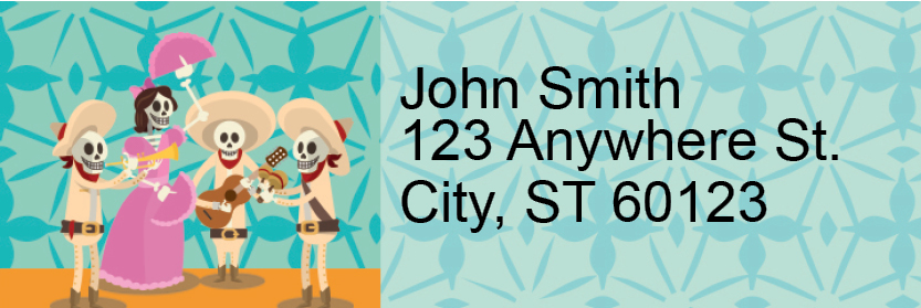 Dia de los Muertos Address Labels