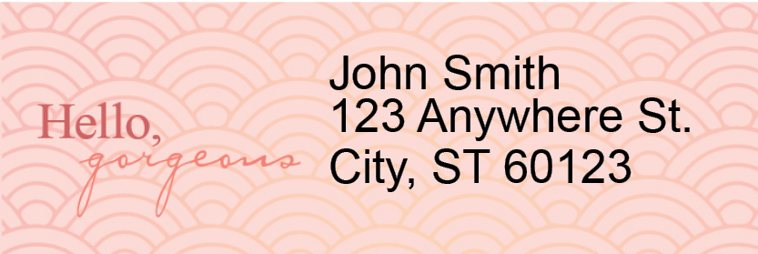 Hello, Gorgeous Address Labels