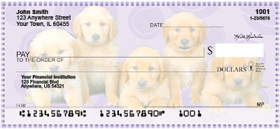 Golden Retriever Pups Keith Kimberlin Personal Checks