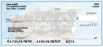 Yorkie Pups Keith Kimberlin Personal Checks