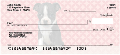 Boston Terrier Pups Keith Kimberlin Personal Checks