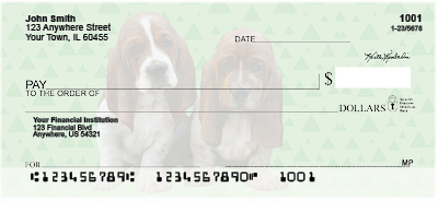 Basset Hound Pups Personal Checks