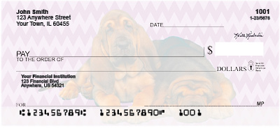 Bloodhound Pups Personal Checks