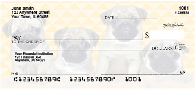 Pug Pups Personal Checks
