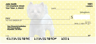 Westie Pups Personal Checks