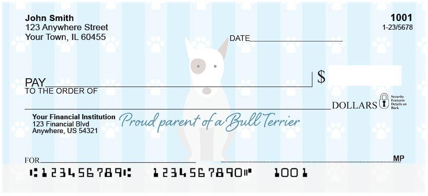 My Bull Terrier Loves Me Personal Checks