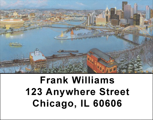Warm Glow of Pittsburgh Address Labels