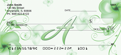 Floral Monogram A Personal Checks