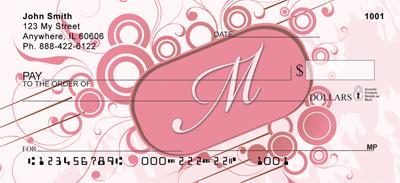 Stylish Monogram M Personal Checks