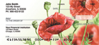 Watercolor Poppy Personal Checks