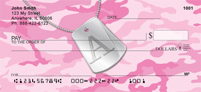 Dog Tag Monogram A Personal Checks