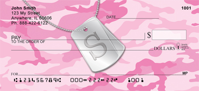 Dog Tag Monogram S Personal Checks