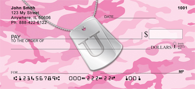 Dog Tag Monogram U Personal Checks