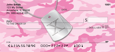Dog Tag Monogram X Personal Checks