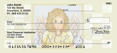African Americans Angels Personal Checks by Lorrie Weber