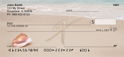 Sand Written Monogram X Personal Checks
