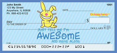 It's Happy Bunny Cute Personal Checks