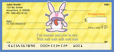 It's Happy Bunny Insults Personal Checks