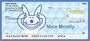 It's Happy Bunny Nice Mostly Personal Checks
