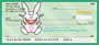 It's Happy Bunny Peace Personal Checks