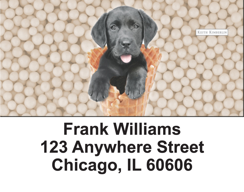 Gelato Pups Keith Kimberlin Address Labels