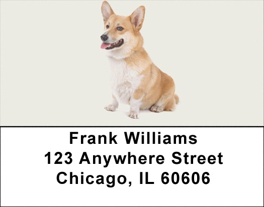Pembroke Corgi Address Labels