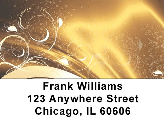 Abstract Black Gold Address Labels