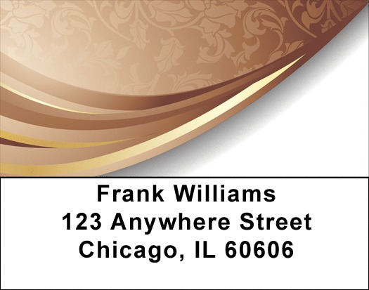 Chocolate Whirl Address Labels