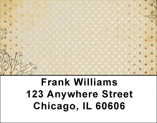 Antique Dots Address Labels
