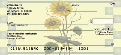 Sunflowers and Crows Checks by Lorrie Weber