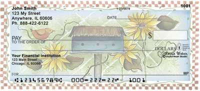Garden Birdhouses Personal Checks by Lorrie Weber