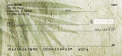 Vintage Canvas With Foliage Personal Checks