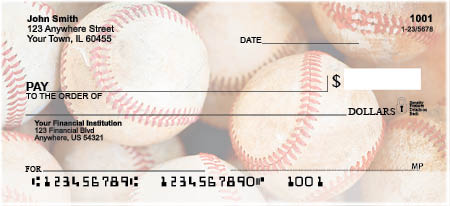 Baseball Top Tear Personal Checks