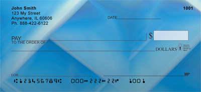 Blue Squared Personal Checks