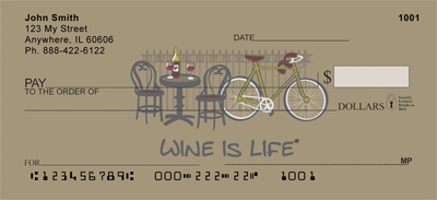Wine Is Life Personal Checks