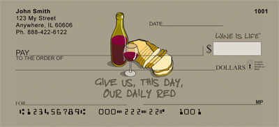 Daily Red Wine Is Life Personal Checks