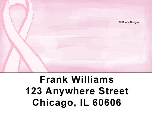 Jen Goode's Pink Ribbons Address Labels