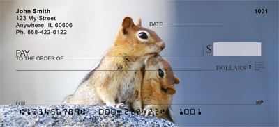 Baby Chipmunk With Mother Personal Checks