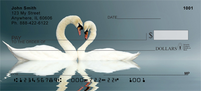 Heart Swans Personal Checks