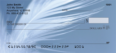 Swan Feathers Personal Checks