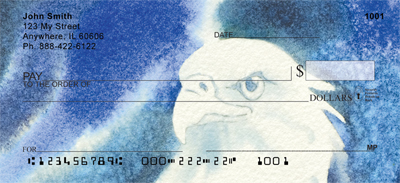 American Eagle In Watercolor Personal Checks