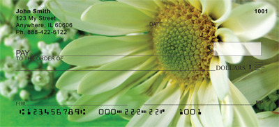 Daisies On Green Personal Checks