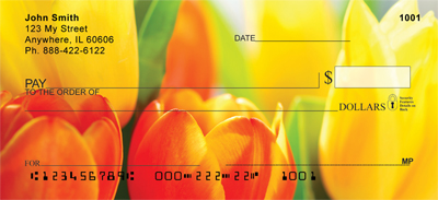 Tulip Temptations Personal Checks