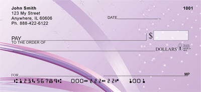 Lavendar Crush Personal Checks