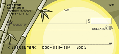 Bamboo Sunrise Personal Checks