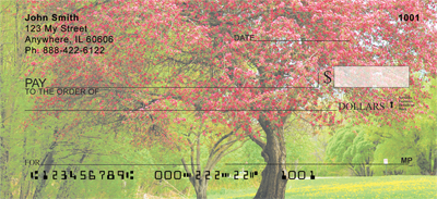 Trees In Springtime Personal Checks