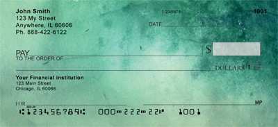 Going Green Personal Checks